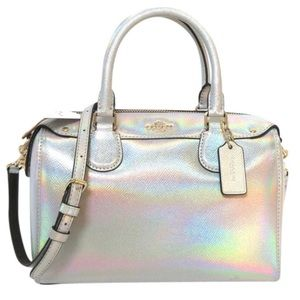 coach Mini Bennett Hologram Iridescent  Satchel